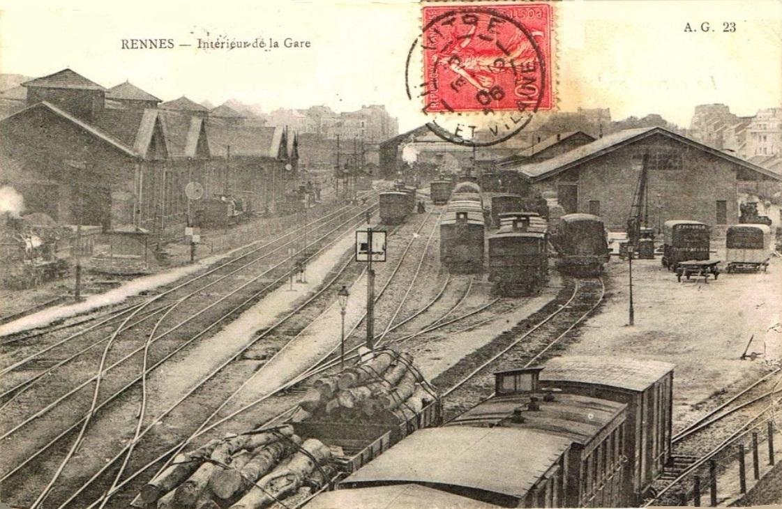 La Gare De Rennes 1857
